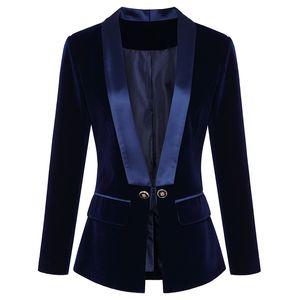 Hohe Qualität Neueste Runway 2020 Designer Blazer Damen Langarm Samt Blazer Jacke Außenbekleidung Y200109