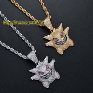 Childhood Memories 900 3A Diamond Hip Hop Pendant Pet Geng Ghost Pendant HIPHOP Hip Hop Iced Out Diamond Necklace Men's Necklace Pendant