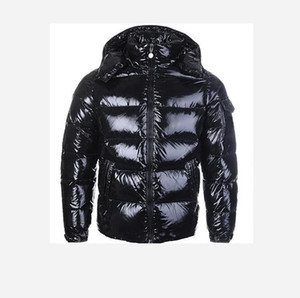 New shiny men's and women's warm down jacket couple short style trendy brand winter plush thick coat