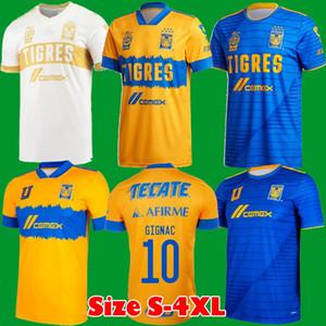 Размер S-4XL 2020 2021 Mundial de Clubes Uanl Tigres Gignac Soccer Thersys 20 21 Варгас Домой Выезд Третий Pizarro Mexico Футбольные рубашки