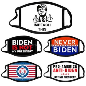 Trump 2024 Election Mask President Biden Cloth Face Masks Trump Cotton Dustproof Washing Cloth Mask 5 Styles