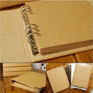 2021 New 40 Wedding baby diy loose-leaf Scrapbook Blank Kraft Photo Cover Album for Children in Case of Binding 8cl2