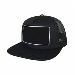 2021 Kore Dalga Kapağı Mektup Nakış Büküm Moda Erkek Hip Hop Seyahat Visor Mesh Kadın Çapraz Punk Beyzbol Şapka