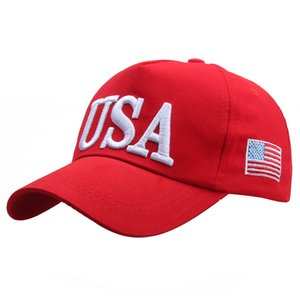 Unisex Outdoor President Trump 2020 Campaign Baseball Cap USA American Flag Embroidered Adjustable Snapback Trucker Hat TG021110