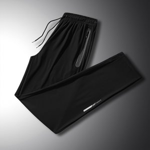 Spring summer large size lovers' ice silk man brother men's add fat and increase sports pants XH XHD3BR