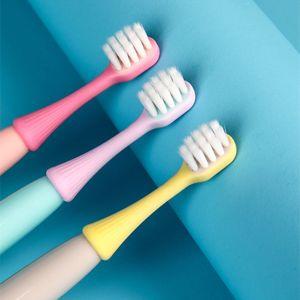 2021 Children Soft Anti Slip Handle Cartoon Soft Bristle Toothbrush Baby Dental Care Tooth Brush for Kid