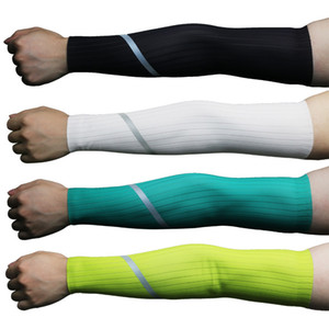 Size S-XL Summer Men Women Reflective Cycling Sleeves Arm Warmers Sun Uv Protection Breathable Running Compression Arm Sleeves