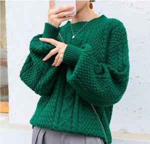 Schneider Sheep Cashmere Pullover Frauen Laterne Ärmeln Lose Übergröße Pullover Weibliche Große Jumper Herbst Winter Mode