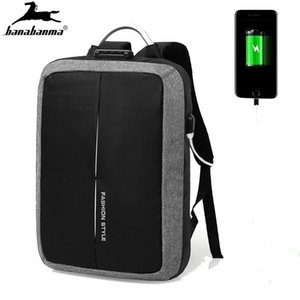 Backpack Business Laptop Secure Bag For Men's USB Celular Bloqueio De Seguranca Cell Male Waterproof Mochila Antirrobo