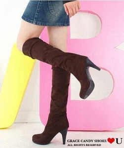 sapatos femininos drop shipping new 2018 shoes woman knee high boots high heel motorcycle women autumn boots u58Q#