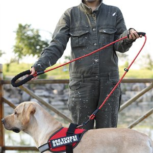 Cuerda de tracción para mascotas Cuerda reflectante para perros, correas integradas, anti-estrangulamiento, cuerda de mano, mediano y grande, suministros para mascotas de la cuerda de la cuerda W-00713