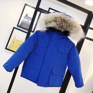 Зимние дети вниз пальто куртка открытый мальчик девушка младенца верхняя одежда теплые куртки с капюшоном спортивная одежда классическая одежда Electcoat Greatcoat Surcoat 5 цветов 100-150