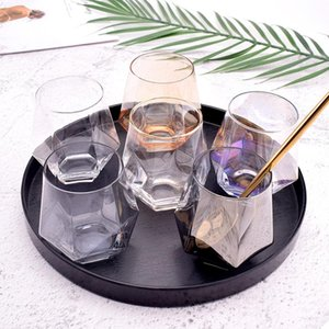 Creative Color Frosted Six Sided Whiskey Glass Spirits Glasses Home Phnom Penh Water Glass Juice Cup Diamond Glass DHD4982