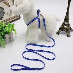 1.0 * 120cm arnés de perro correas nylon impreso ajustable mascota collar de perro cachorro gato animales accesorios collar de mascotas collar de corbata de cuerda