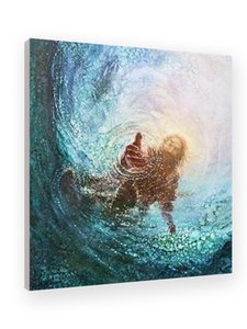 HAND OF GOD SAVE ME Art Prints of Jesus Christ Home Decor Posters Wall Art Canvas Pictures