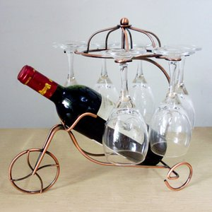 2 Colors Iron Hollow Wine Rack Stand Hanging Drinking Glasses Stemware Rack Shelf Wine Bottle & Glass Cup Holder Display