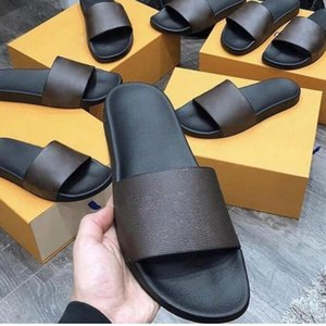 2021 men Sandals Slippers Embroidery Designers Slides women Sandal Floral Brocade Flip Flops Striped Beach Leather Rubber Flower Slipper Loafers With Box