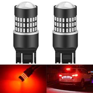 Katur 2pcs T20 Size 7443 Base Double Filament LED Car Light Bulbs For Brake Stop Light Tail Lamp Red Amber White 6000K Led 12v