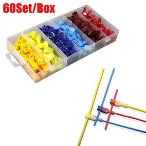 60 Set / Box T-Tap-Kabel-Anschlüsse, schnelle Spleiß-elektrische Kabelanschlüsse Isolierte männliche Trennen Spaten-Terminals JK2102XB