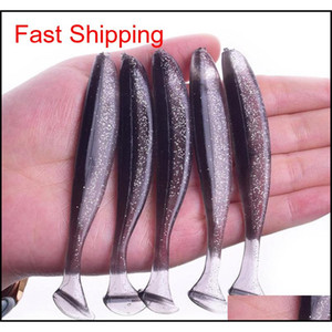 Jigging Wobblers Fishing Lure 95mm 75mm 50mm Shad T-tail Soft Bait Aritificial Sile Lures Bass Pike Fishing Tack sfR home2006