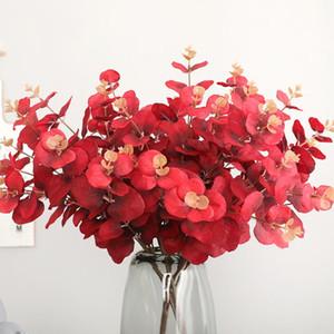 Artificial Plant 5 Fork 20 Head Eucalyptus Leaves Home Decoration Photographic Prop Artificial Flower Money Leaf
