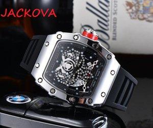 Luxury Mens Military Diamonds Watch Women Quartz Men Watches Calendar Silicone Strap Wristwatches Montre De Luxe