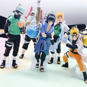 8 cm 5 adet / takım Anime Naruto Şekil Oyuncak Sasuke Kakashi Sakura Gaara Itachi Obito Madara Killer Arı Mini Model Bebek Çocuklar Için L0226