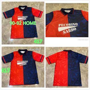 Cagliari Calcio 1990 1992 Ретро футбольные трикотажные изделия Дом Joao Pedro Simeone Nainggolan Godin 90 92 Урожай футбольные рубашки