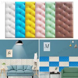 3D Duvar Kağıdı Çıkartmalar Duvar Kağıdı Çıkartmalar Kalın Tatami Anti-çarpışma Duvar Yastıkları Çocuk Yatak Odası Oturma Odası Yumuşak Köpük Cush