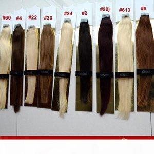 """XCSunny 18 """"20"""" Лента Девственные волосы PU Skin Weft Extensions 100 г Упаковки Усиливание пакета Лента Уткаки кожи Уифетные Волосы"""