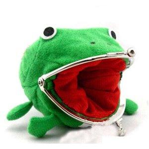 Caso de lápiz Frog Cambiar monedero Billetera Anime Corduroy Peluche Recoger Purso Lindo Familia Natal Daily Storage Jllsqz Sinabag