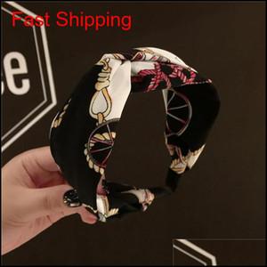Printing Headband Silk Fabrics Cross Knot Headband Women Girls Hair Head Hoop Bands A qyltKZ topscissors
