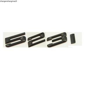 Matte Black ABS Number Letters Word Car Trunk Badge Emblem Letter Decal Sticker for BMW 5 Series 523i