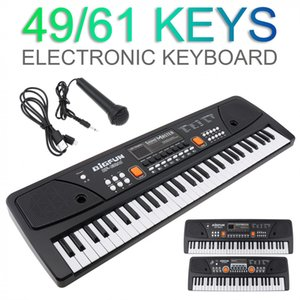 Electronic Organ 49   61 Keys Electronic Keyboard Piano Digital Music Key Board with Microphone Children Musical Enlightenment