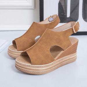 HOT Sandals Women Wedges Shoes High Heels Sandals Summer Women shoes Chaussures Femme Platform Sandalia Feminina 210226