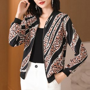 New Bomber Jackets Women's 2020 Summer Print Basic Jacket Thin Short Female Casual Jackets Ladies Tops Plue Size M-3XL Outerwear Q0119