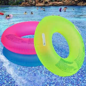 90 100CM Summer Fluorescent Inflatable Ring Pool Floats Swimming Circle Swimming Wheel For Adult kids Water Sports Toys1