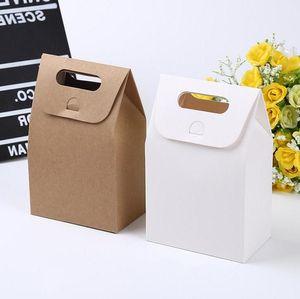 10 * 6 * 16см подарок крафт коробка корабля сумка с ручкой мыло конфеты пекарня печенье печенье упаковочные бумажные коробки
