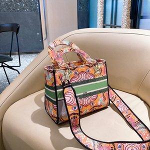 Bolso de mujer 21 Diseñador Plaid Bordado Bolsas de bordado Moda Esculsa diagonal Alto temperamento Bolsa de hombro Caja de regalo Packaging WF2102041