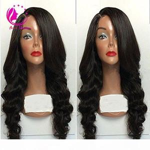 130-180% Densité Vierge Brésilienne Human Cheveux Perruques pleines de dentelle Perruque personnalisée Personnes à cheveux 100% Human Hair Hair Gloupe Dentelle avant Perruque avant