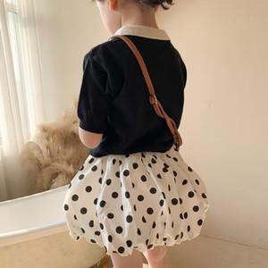 الأطفال البولكا النقاط برعم تنورة الواقيات الصيف الجديدة الفتيات الأميرة تنورة الاطفال القطن مرونة الخصر تنورة قصيرة A6044