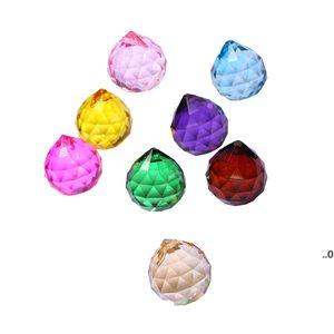 30 мм красочный хрустальный шар призмы солнцезащитный кристалл радужные подвески, подвесные кристаллы призмы для окон для подарка FWD8760