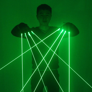 Green Laser Gloves Laser flash finger, Dress Up LED Robot Suit Glowing Dress Bar Party Music Festival Live Atmosphere Props