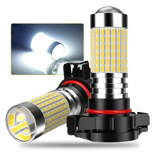 2 قطع psx24w led 5202 h7 h8 h9 h11 9005 9006 led أضواء الضباب سيارة السوبر مشرق أدى تشغيل مصابيح بيضاء 12V يوم القيادة مصباح 144SMD