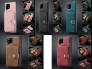 Magnetic Leather Case For Samsung Galaxy A12 A22 A32 A42 A52 A72 5G Note 9 10 20 plus Uitra S20 FE S21 A51 A71 Wallet Card Flip Phone Cover