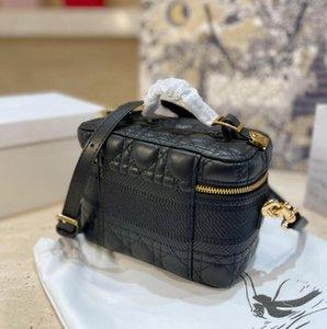 Diseñadores de lujo bolso de maquillaje bolso de mano bolsa de maquillaje bolsa de diseño de la bolsa de la bolsa de la moda de la moda de la moda del regalo con la caja
