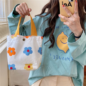 Original Simple Women Canvas Casual Shopping Bags Shoulder Environmental Storage Handbag Reusable Foldable Eco Grocery Totes