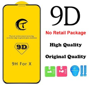 High Quality 9D Full Cover Full Protection Tempered Glass for iPhone X XS XR 6 7 8 Plus 12 Mini 11 Pro Max