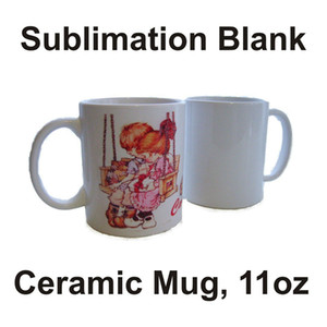 A-sublimação caneca em branco caneca de cerâmica de cerâmica de transferência de calor personalizado 11 onças brancas do grupo do partido do copo de água
