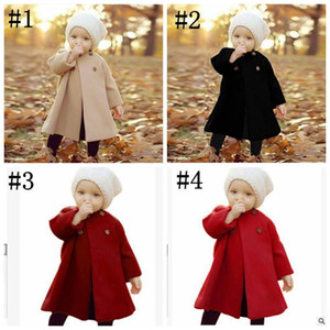 Jackets Long Clothes Child Coat Sleeve Dust Baby INS Designer Outerwear Infant Fashion Kids Button Jumper Clothes Girl Winter Pullover Qash